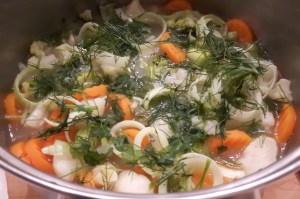 köögivilja-makaronisupp