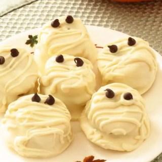 White Chocolate Peanut Butter Banana Mummies