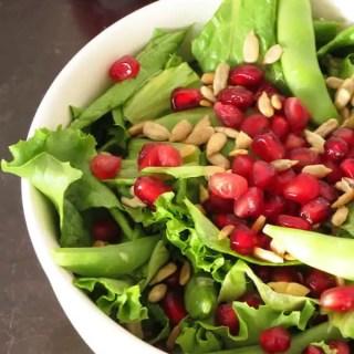 Pomegranate Sunflower Seeds Salad