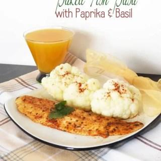 Baked Fish Basa with Paprika & Basil