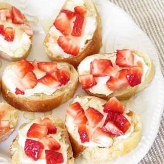 Strawberry Honey Bruschetta