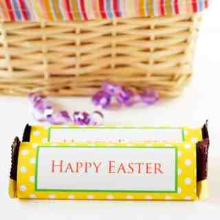 Free Printable Easter Chocolate Bar Wrapper