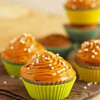 Gingerbread Cupcakes with Dulce De Leche