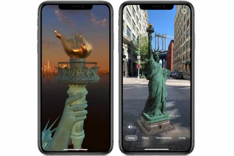 A preview of the Augmented Reality Statue of Liberty app