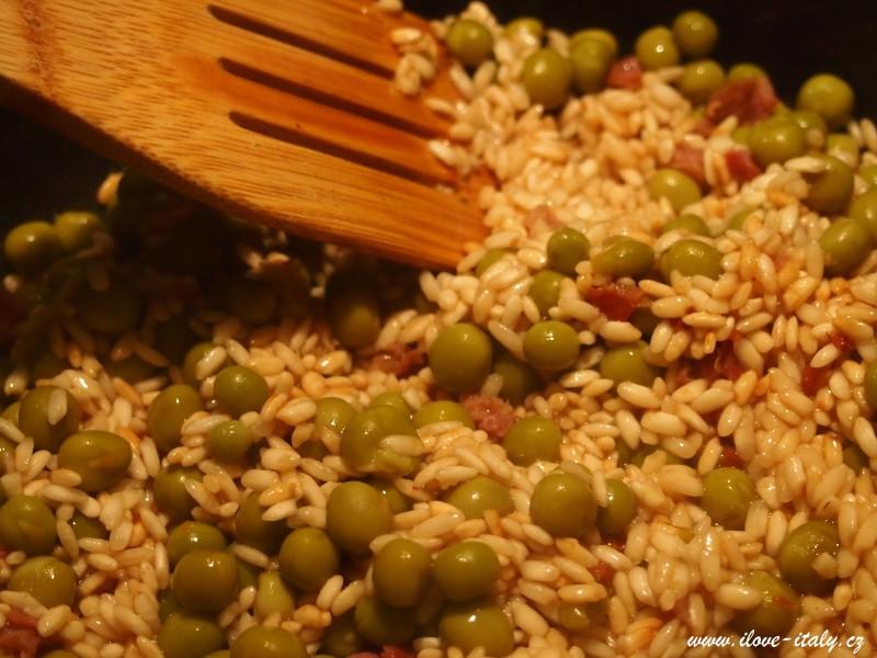 italské rizoto s hráškem