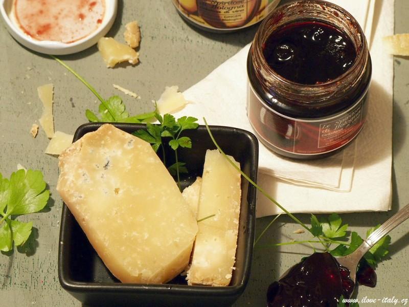 vinná želatina s italským sýrem pecorino