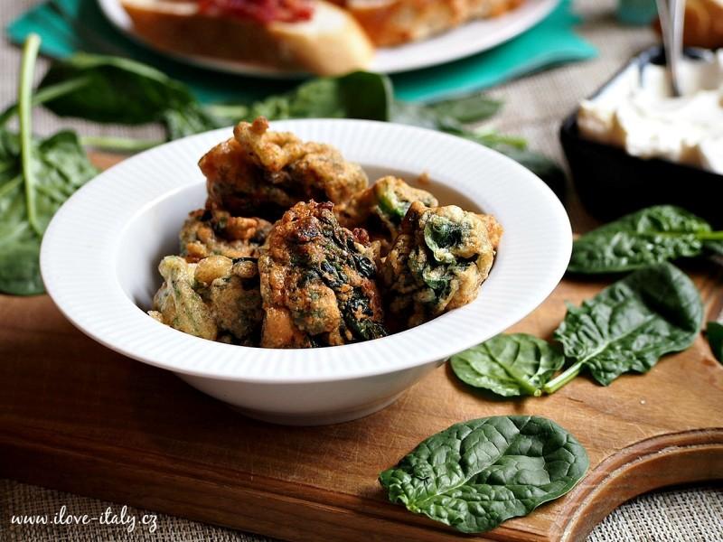 italský aperitiv špenát
