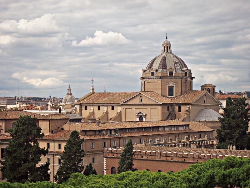 výhled z monumentu řím