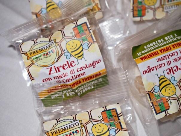 typické bonbonky z medu