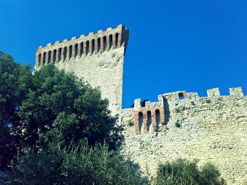 hrad střední itálie