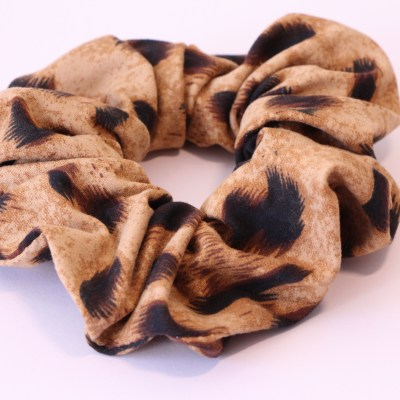 Scrunchie animal print, ελαστικό