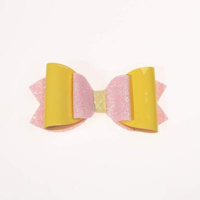 Τσιμπιδάκι, κλιπ, γκλίτερ ροζ, λουστρίνι κίτρινο