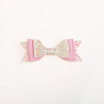 Tσιμπιδάκι, κλιπ, γκλίτερ άσπρο-ροζ, λουστρίνι ροζ