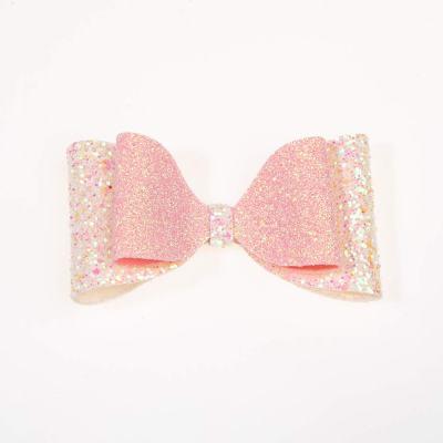 Tσιμπιδάκι κλιπ, γκλίτερ άσπρο-ροζ, ροζ