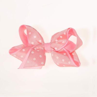 Tσιμπιδάκι κλιπ, ροζ, λευκό πουά