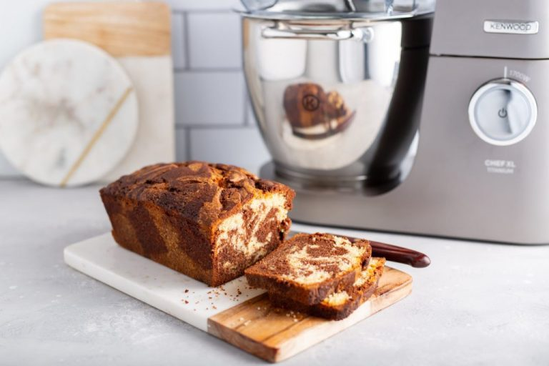 Kenwood CHocolate and Vanilla Marble Loaf, I Love Cooking Chocolate Cake Loaf