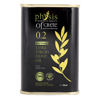 Physis of Crete 0.2 extra virgin olive oil in can – 100ml. - Physis of Crete - www.ilovecrete.eu
