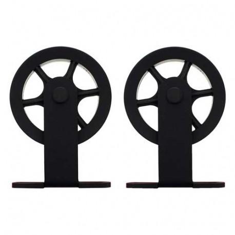 roulettes pour porte coulissante suspendue wheel top