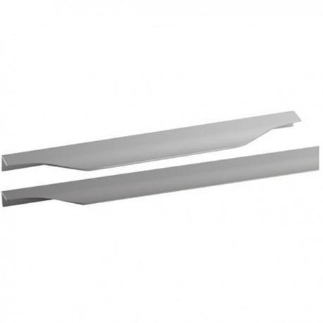 poignee profil de meuble cuisine aluminium tirette forme vague