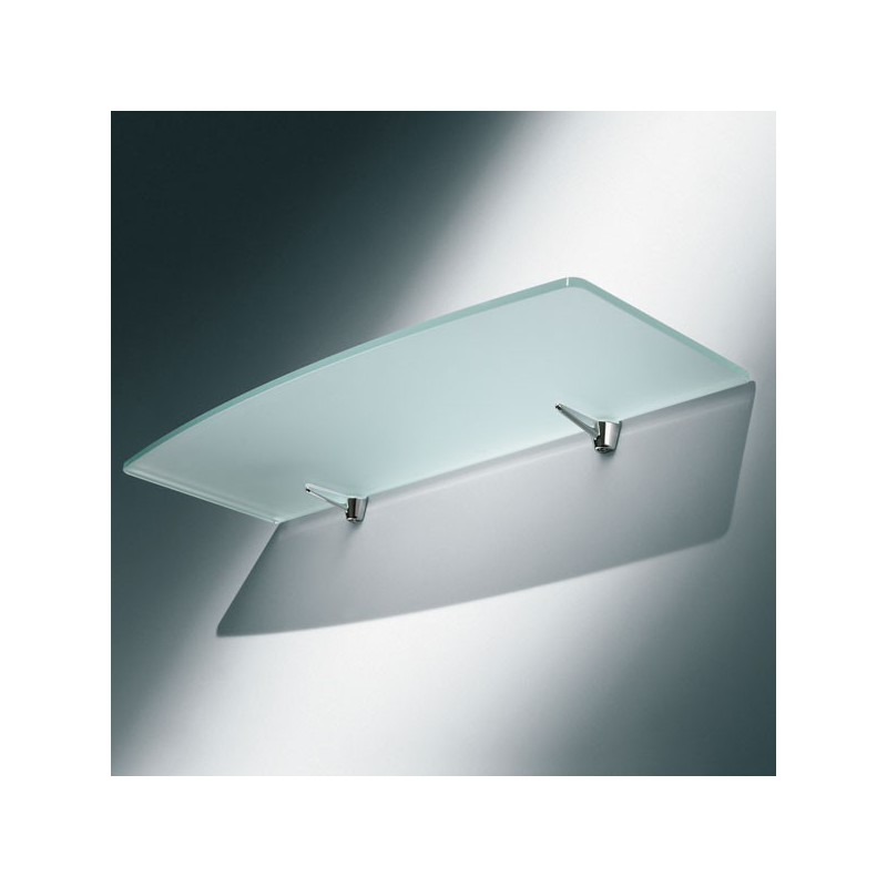 support metal chrome pour tablette verre