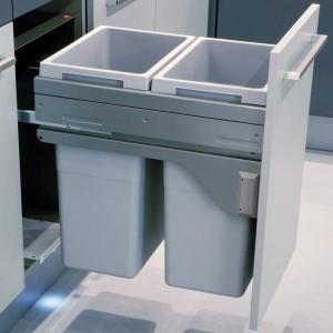Poubelle Coulissante Automatique Pour Cuisine Equipee 2 3 Bacs
