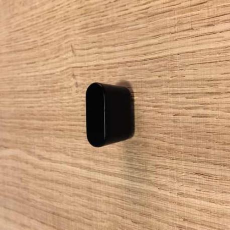 bouton de meuble noir oblong