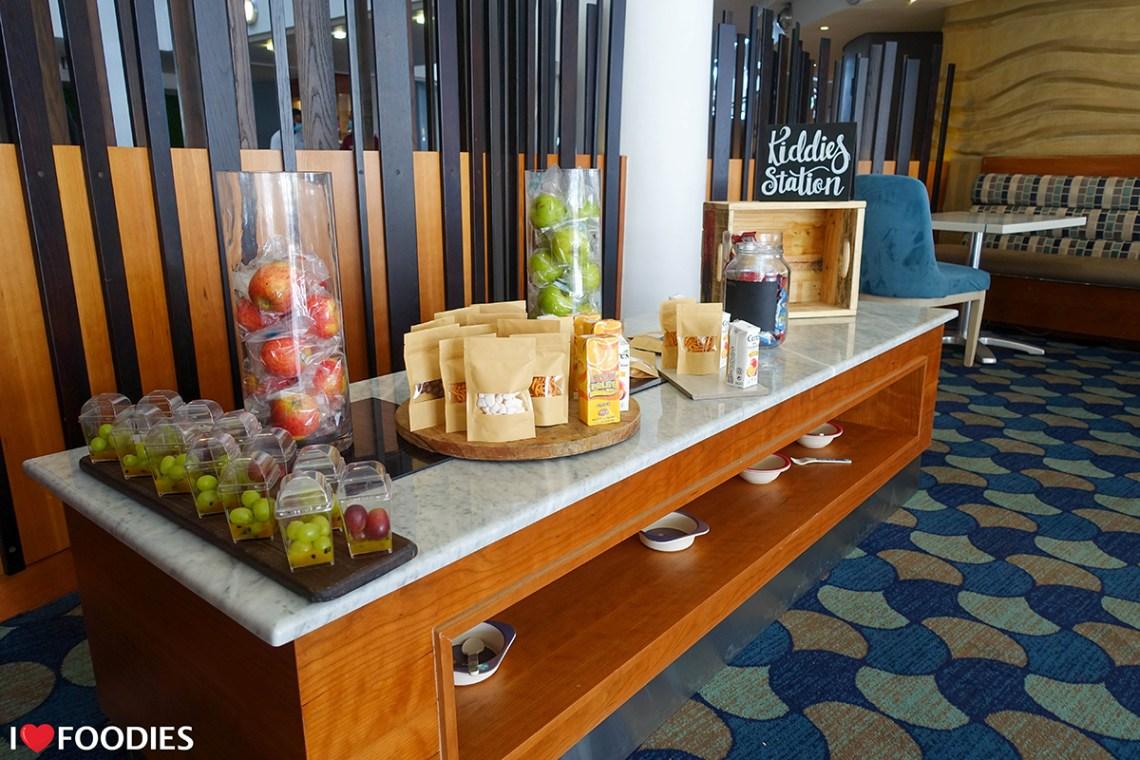 Kiddie's station at the Radisson Blu Waterfront hotel breakfast buffet