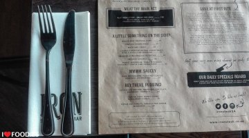 Iron Steak Menu