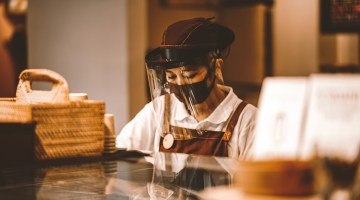 Is it safe to eat out at restaurants? It can be with Covid-19 precautions like wearing masks and visors.