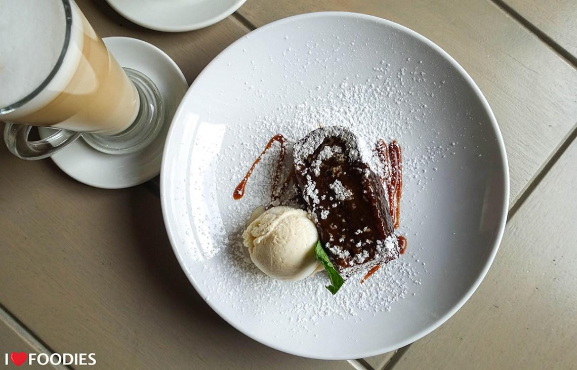 Malva pudding with butterscotch sauce and Amarula ice cream