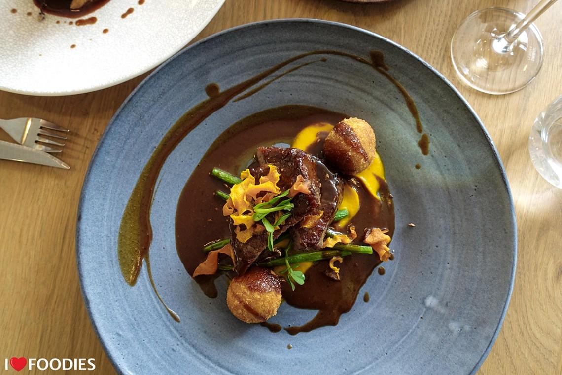 Beef sirloin with arancini