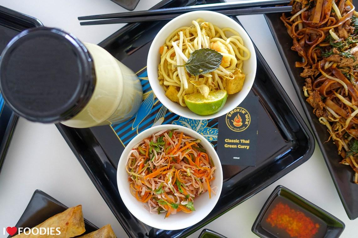 Smokin' Wok Thai Green Curry, Laksa, and Pickled Salad