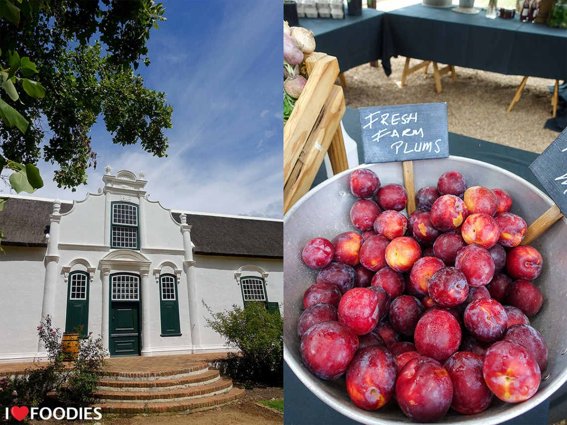 Historical Werf area and market at Boschendal