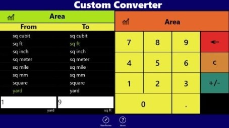 Custom Converter - Windows 8 unit converter app
