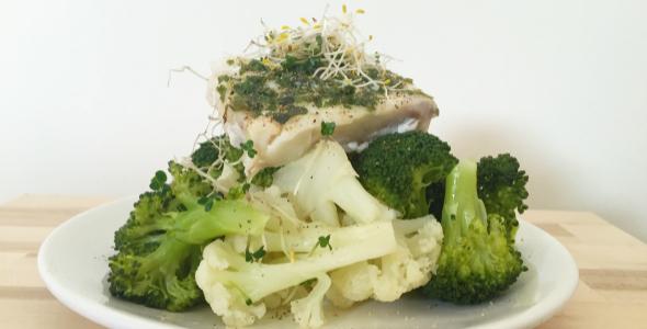 stoofpotje met vis en groenten