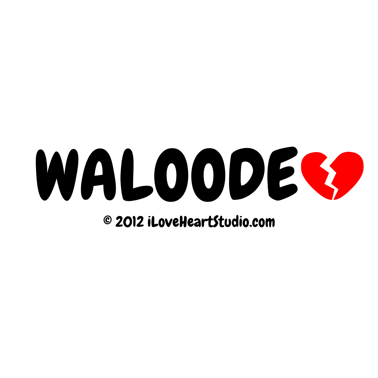 Waloode Broken Heart Design On T Shirt Poster Mug