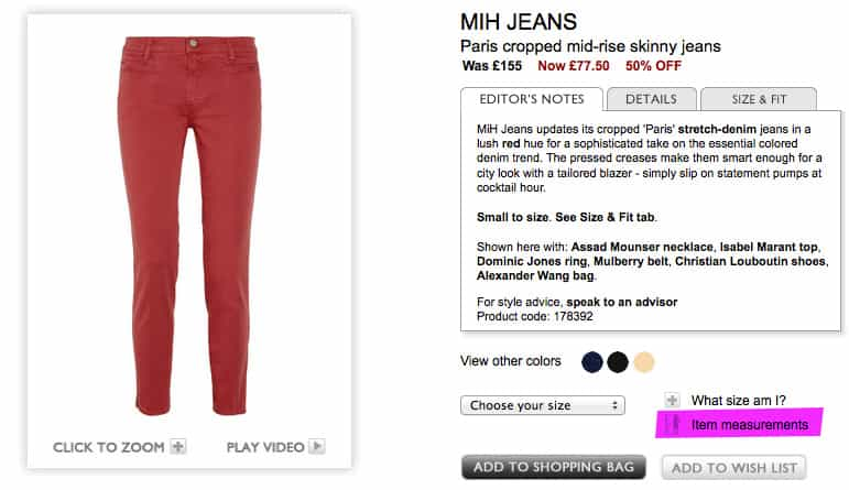 MiH Jeans Paris cropped mid-rise skinny jeans Was £155 Now £77.50 50% OFF