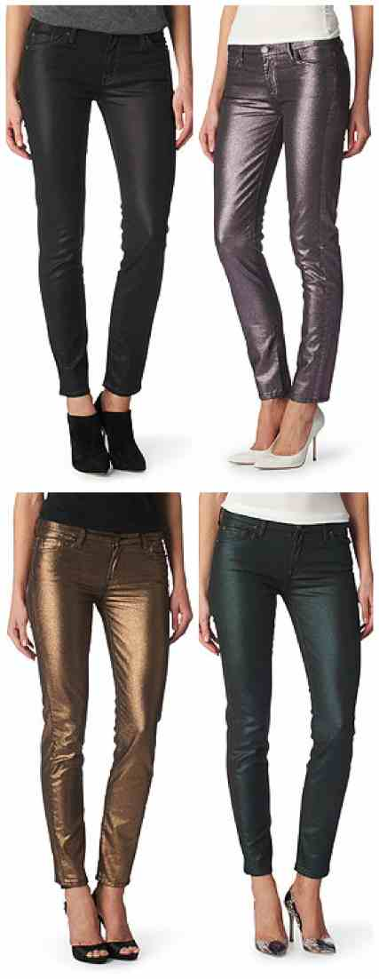 SHOP 7 FOR ALL MANKIND EXCLUSIVE LIQUID METALLIC JEANS £230