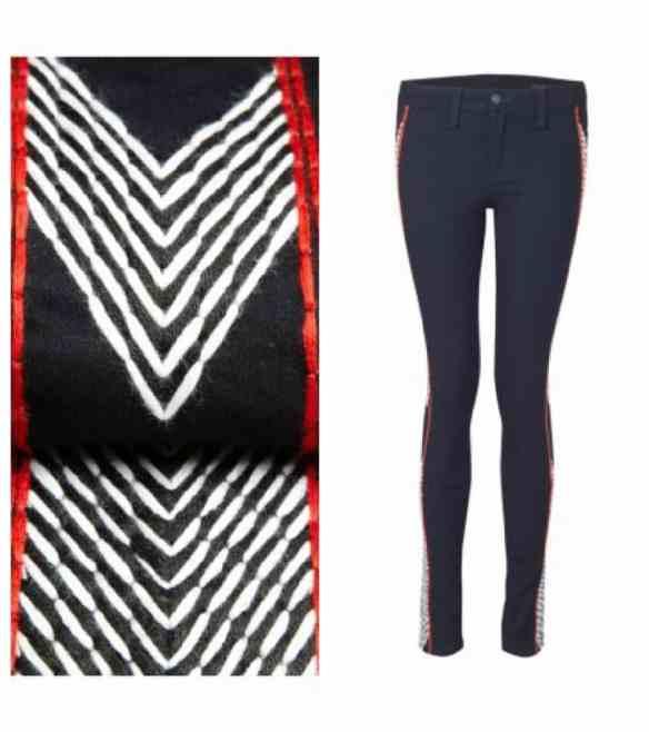 Rag & Bone Split Skinny Jeans - Raja Midnight  £250.00