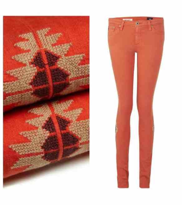 AG Jeans Santa Fe Skinny Jeans - Red  £235.00