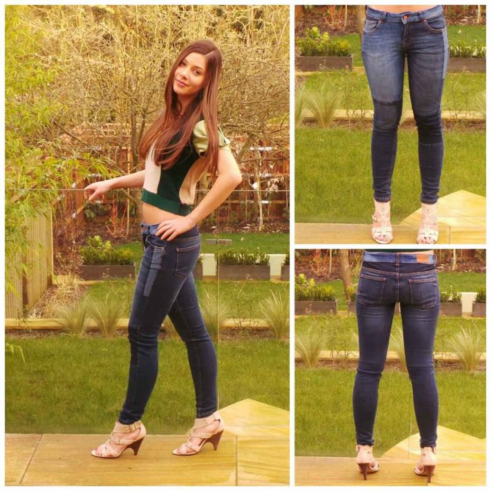 patchwork, jean , skinny fit. Pull & Bear
