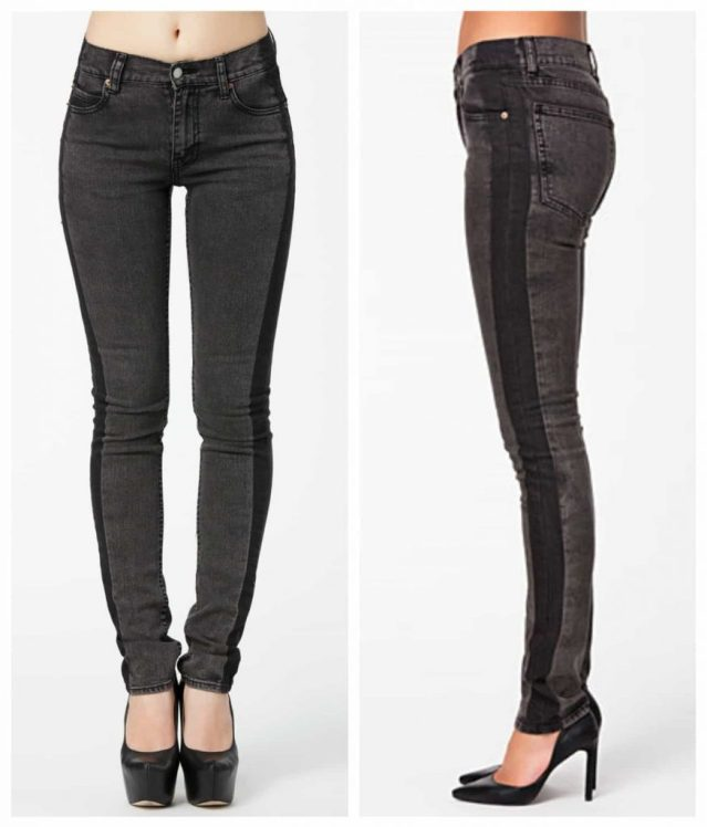 lConceal, Reveal, larger legs, contast panel jean, cheap monday, skinny