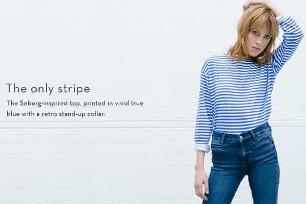 mih jeans stripe