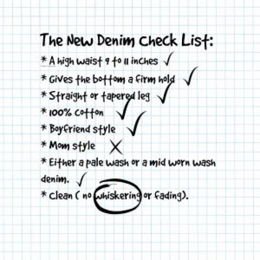 new denim checklist
