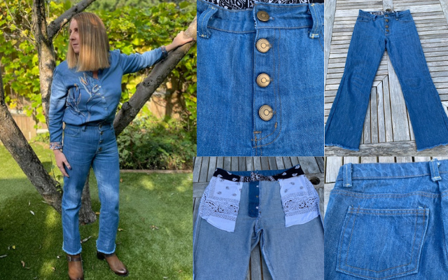 making jeans