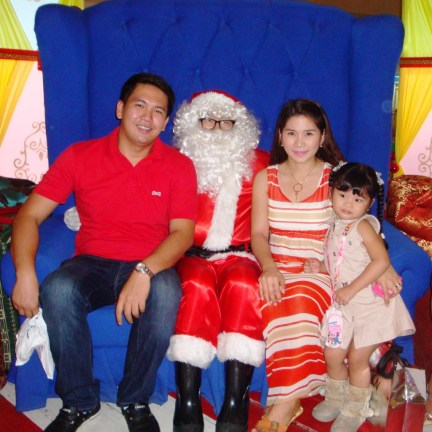 Family Picture With Santa Claus