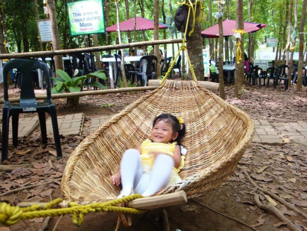 There's also a hammock where you can lie down and relax.
