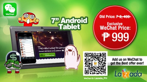 WeChat and Lazada Promo.