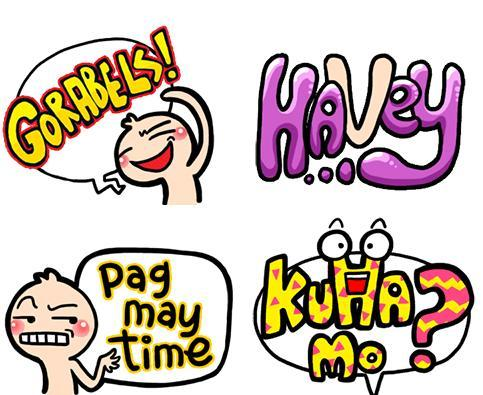 wechat stickers - filipino slang