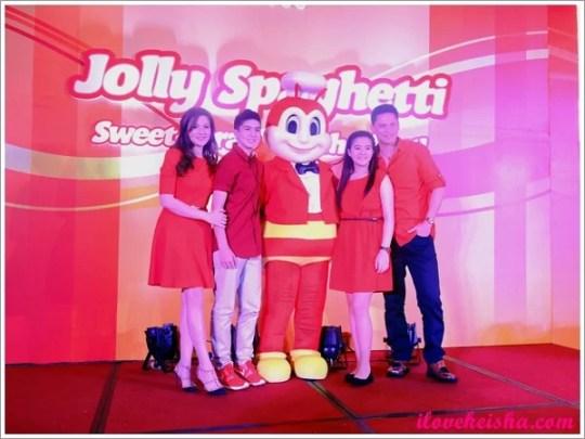 Cramina Villaroel and Family with Jollibee